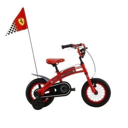Ferrari CX 10 12-Inch Kids Bike Sports Style Race Flag Chain Protection New