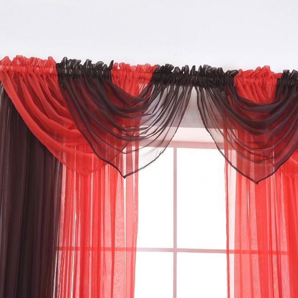 15 Color Solid Sheer Voile Net Window Curtains Drape Panel Scarf Valance Curtain Swag Swags Swags With Tassle For Living Room Bedroom Home Decor Walmart Com Walmart Com