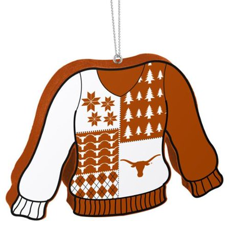 Texas Longhorns Official NCAA 5.5 inch  Foam Ugly Sweater Christmas Ornament by Forever Collectibles