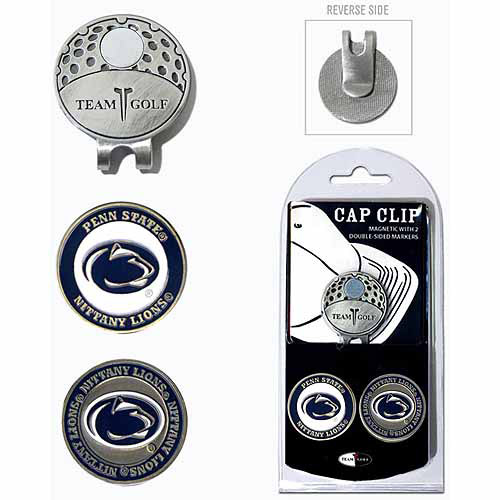 Team Golf NCAA Penn State Cap Clip With 2 Golf Ball Markers