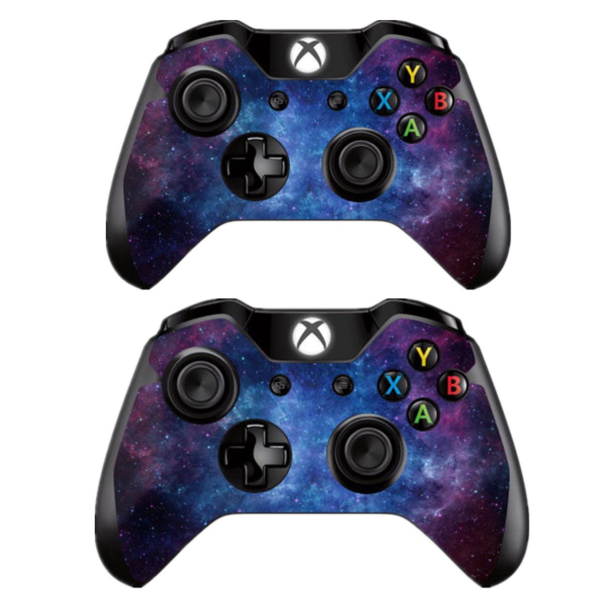 XB1 SKINOWN Xbox 1 Cosmic Nebular Skin Sticker Vinly Decal Cover for Xbox One Console and 2 Controller with 1 Kinect Skins