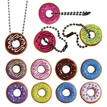 I Love Donuts Keychain. Assorted Colors. 24 PC Set. Fun Party Favor., 24 PC I Love Donut Keychain Favor Set In Assorted - Fun Keychains