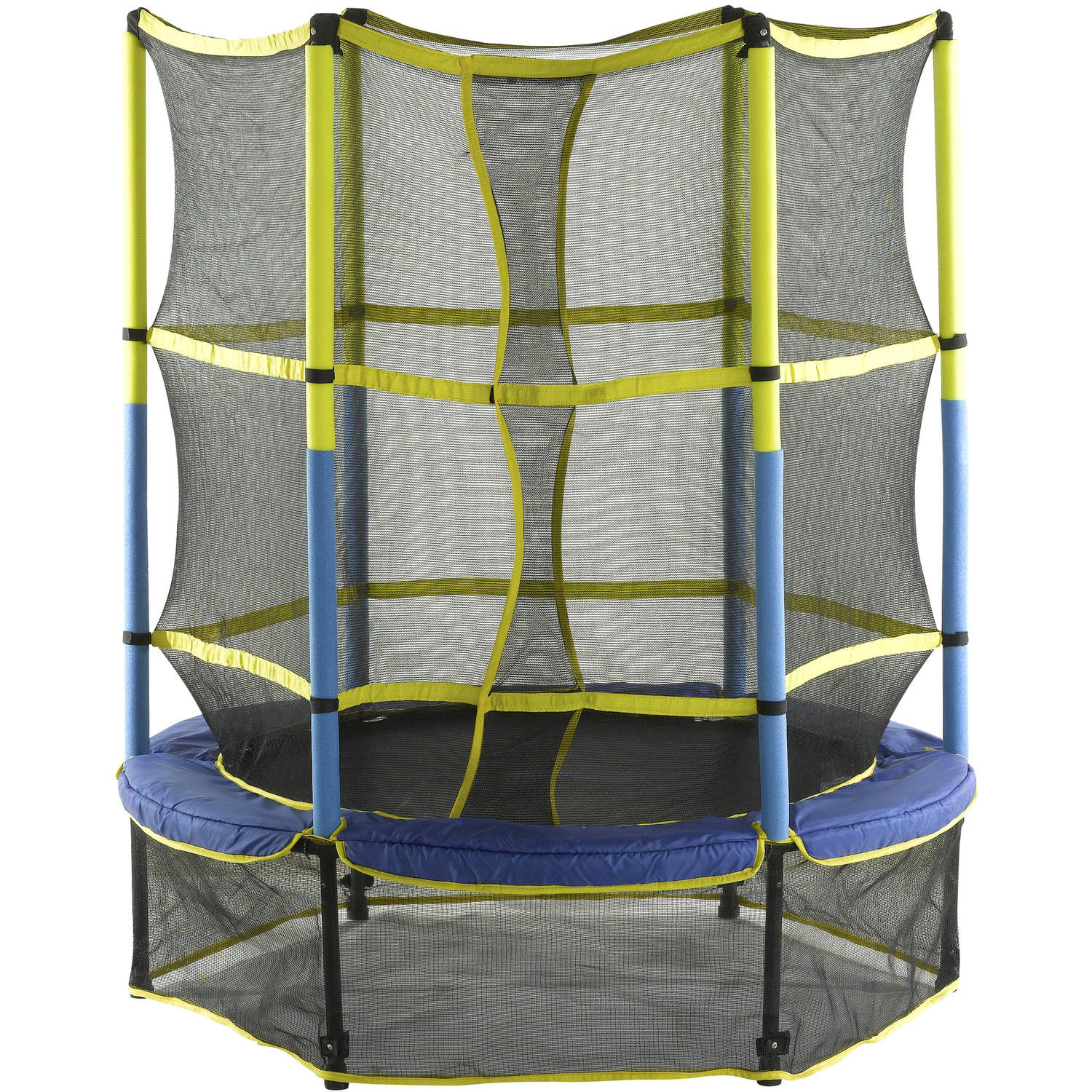 "Upper Bounce 55"" Kid-Friendly Trampoline and Enclosure Set with New Easy Assemble Feature"