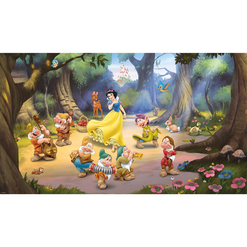 Snow White and the Seven Dwarfs 6' x 10.5' Mural, Ultra-Strippable