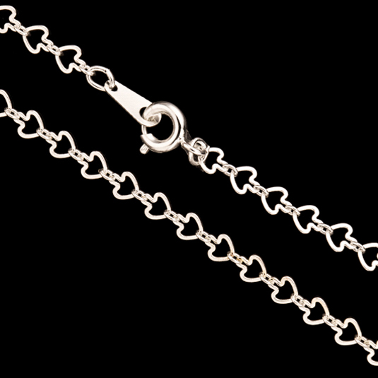 Silver Arrow Link Chain Necklace With Springring Clasp 18Inch Silver Plated Brass 4mm Chain Width Sold per pkg of 1pcs