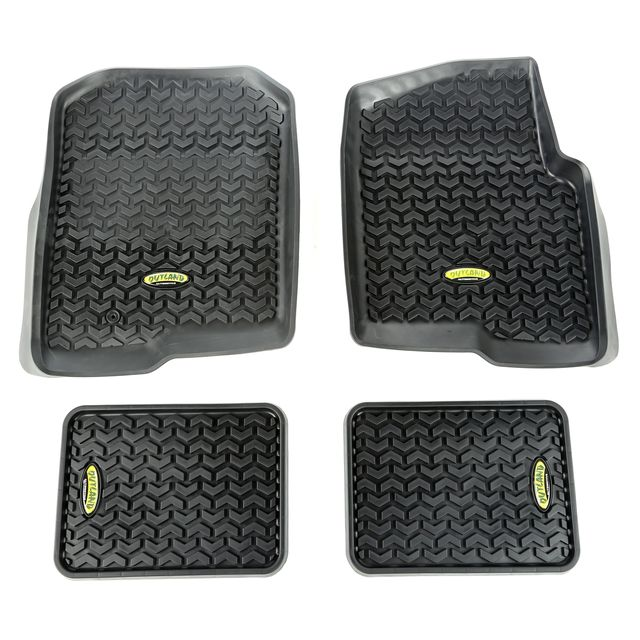 Outland Automotive Floor Liners, Kit; 04-08 Ford F-150 Regular/Extended Cab/Supercrew 398298721