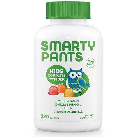2 Pack - SmartyPants Kids Complete Fiber Delicious Gummy Multivitamins 120 ea