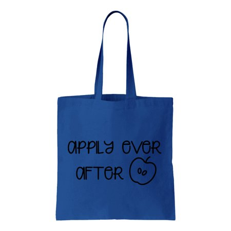 Appily Ever After, Fuit Puns, Cotton Canvas Re-Usable Shopping & Carry-All Tote Bag