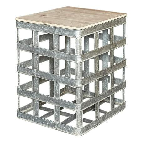 Powell Jayce Galvanized Side Table