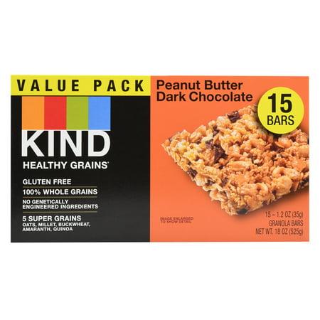 Kind Healthy Grains Bars Peanut Butter Dark Chocolate, 15