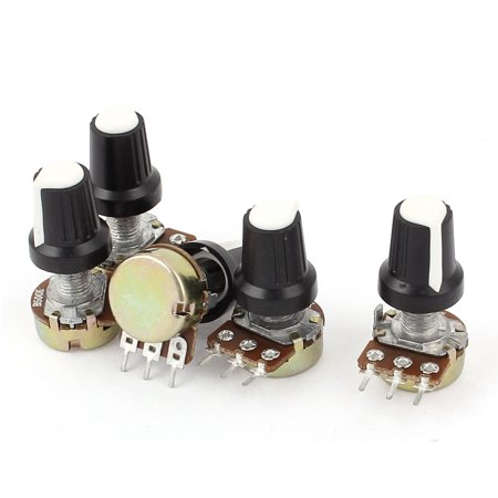 500k Audio Pot - New 5pcs 500K OHM 3 Terminal Linear Taper Rotary Volume B Type Potentiometer Pot