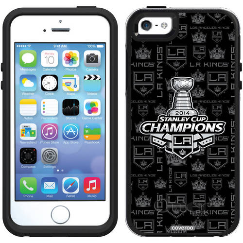 L.A. Kings Stanley Cup Champions '14 Design on OtterBox Symmetry Series Case for Apple iPhone 5/5s 781-9365-BK-FBC