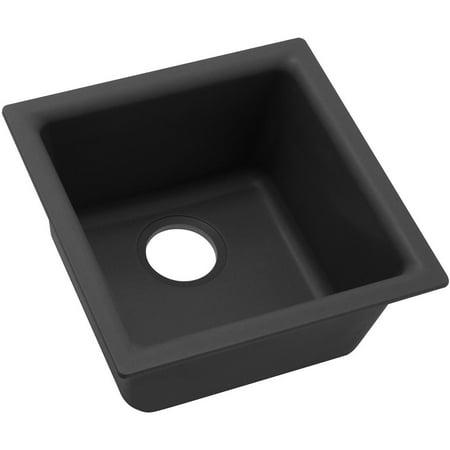 Gray Single Bowl Kitchen Sink - Elkay Quartz Classic 15-3/4