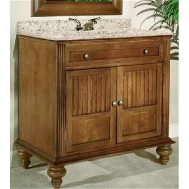 Kaco International 320-3000 Barbados 30 in. Vanity with a Brown Cherry Krylon Finish  Vanity Only