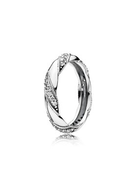 24244a323 Product Image Pandora Ring Ribbon of Love w/Clear CZ Ring sz 52 190981CZ-52