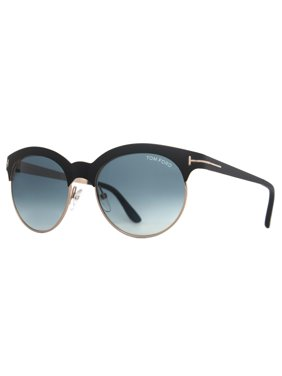 81495123bd Product Image Tom Ford Angela TF438 05P Matte Black Gold Blue Gradient Women  Round Sunglasses