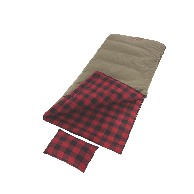 Coleman Big Game -5 Degree Big & Tall Sleeping Bag Red Plaid