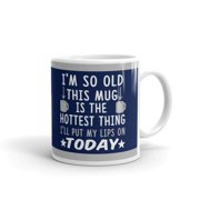 I'm so Old this Mug is the Hottest Thing I'll Put my Lips on Today Retirement Gifts Coffee Tea Ceramic Mug Office Work Cup Gift 11 oz