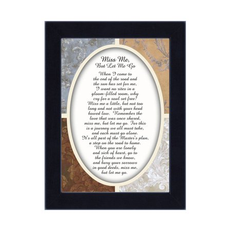 Miss Me But Let Me Go, Loved Ones In Heaven, In Remembrance Gifts, 7x9 - Lovely Remembrance Gift