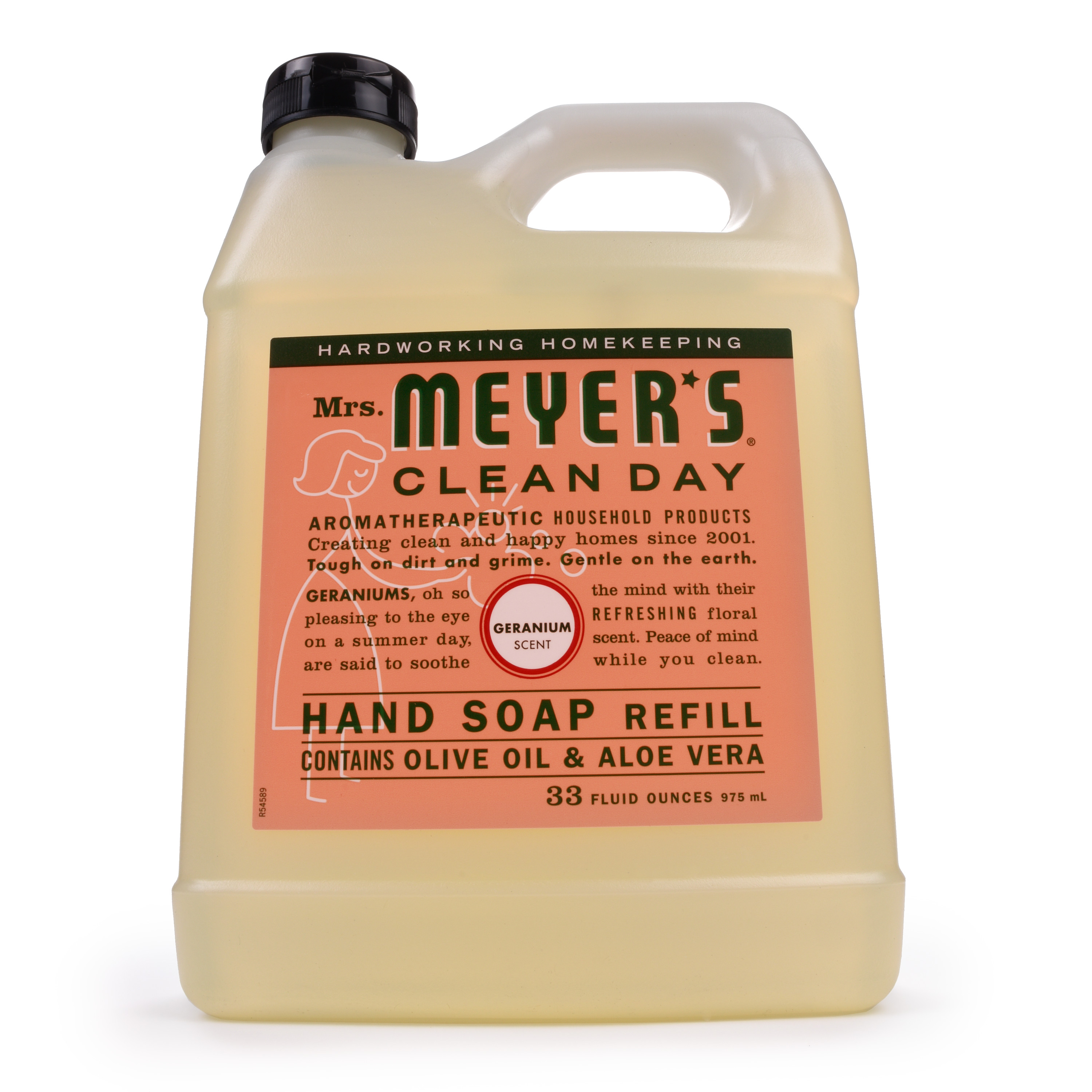 Mrs. Meyer's Clean Day Liquid Hand Soap Refill, Geranium, 33 fl oz