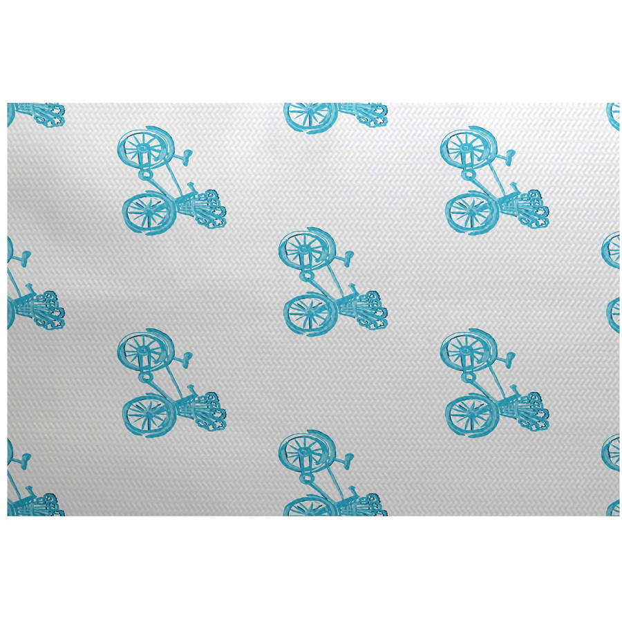 Simply Daisy 3' x 5' Bicycles! Geometric Print Indoor Rug