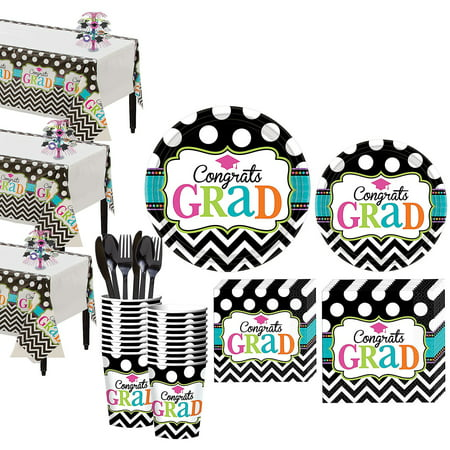 Party City Dream Big Graduation Mega Tableware Kit for 50 Guests, With Décor](Partry City)