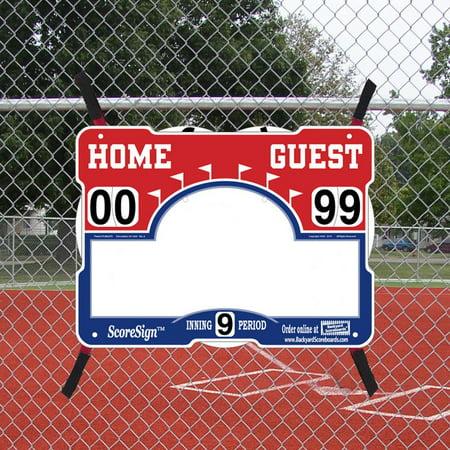 Diy Scoreboard (ScoreSign Portable Baseball/Softball)