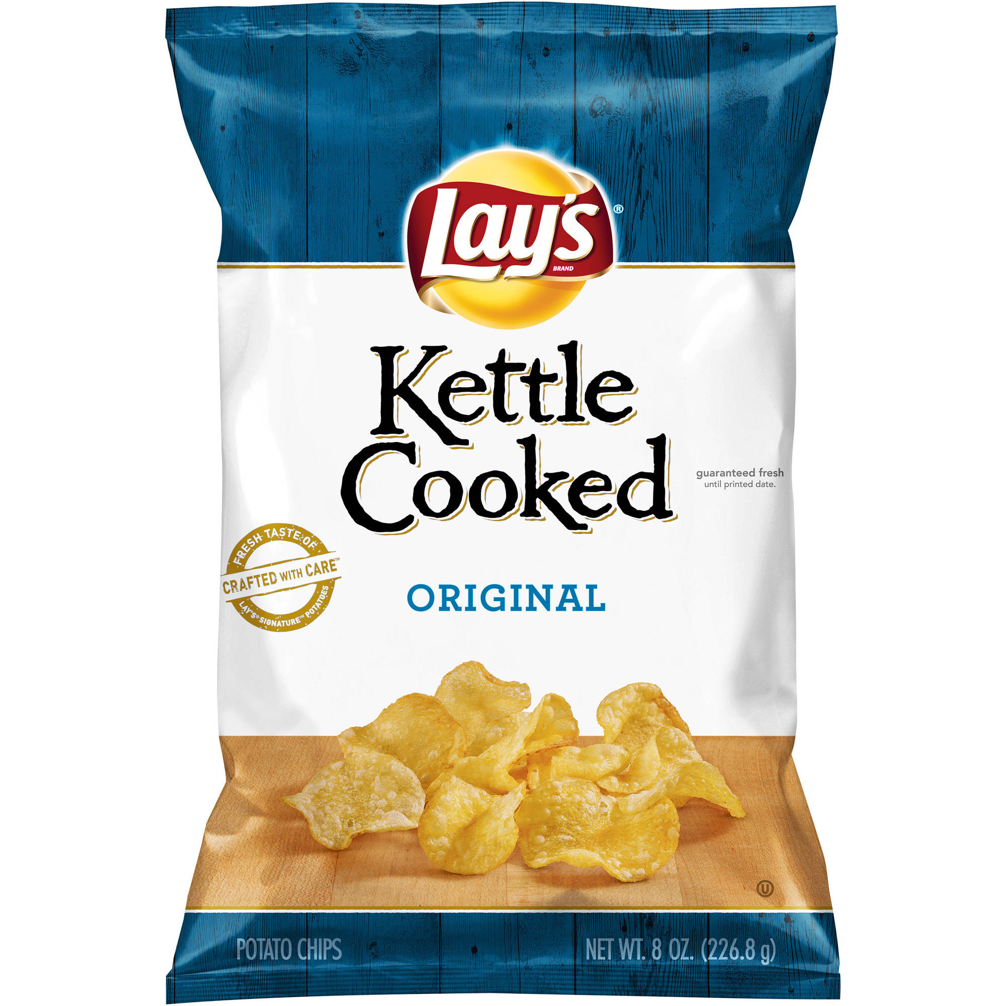 Lay's Kettle Cooked Original Potato Chips, 8 oz