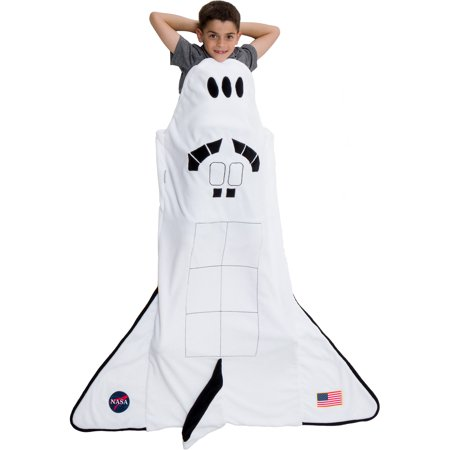 Plush Shark Sleeping Bag (Silver Lilly Plush Fleece Spaceship Rocket Ship Sleeping Bag Blanket for)