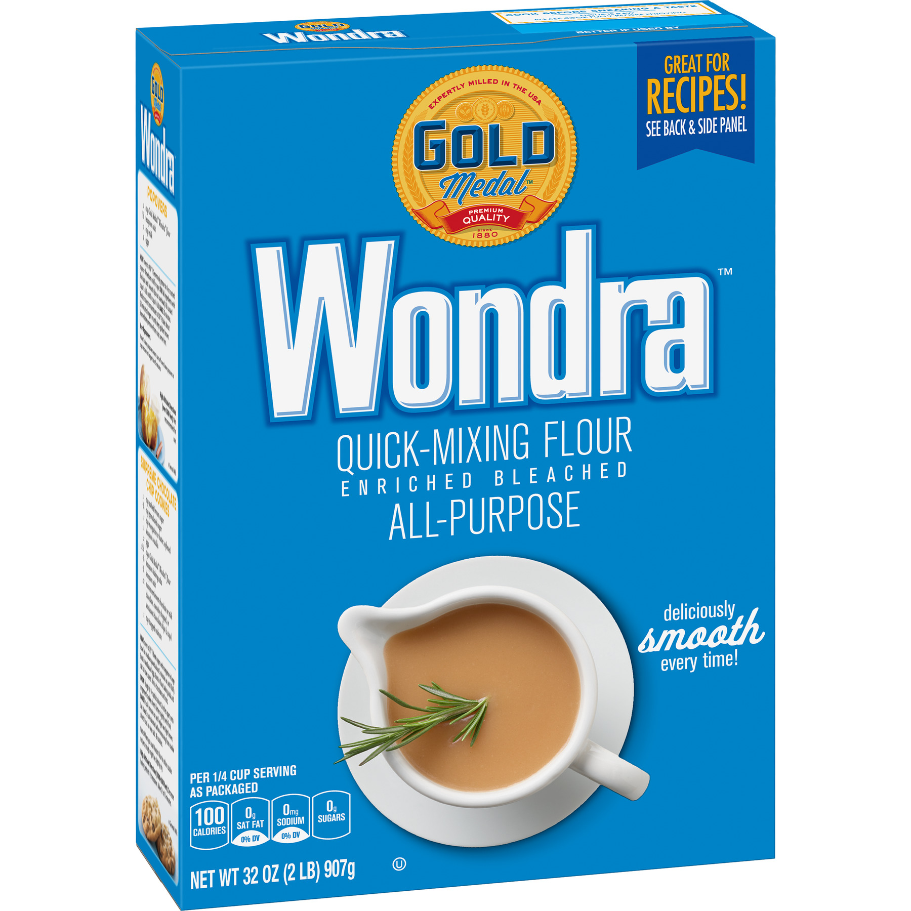 Gold Medal Wondra  Enriched Bleached All-Purpose Flour, 32 oz