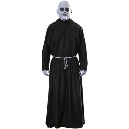 Addams Family Uncle Fester Adult Halloween Costume - One Size Up to 44 (Family Park Halloween)