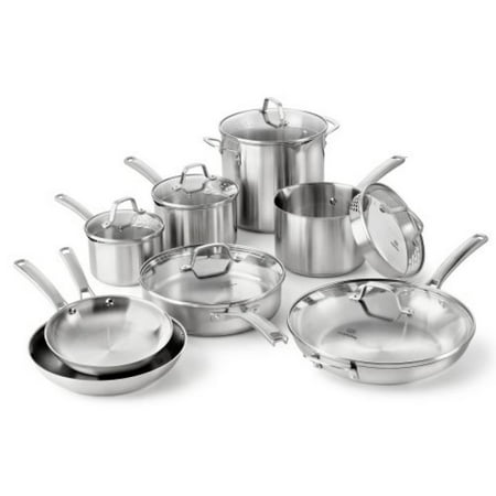 Calphalon Classic Stainless Steel 14-Piece Cookware (Best Stainless Steel Copper Core Cookware)