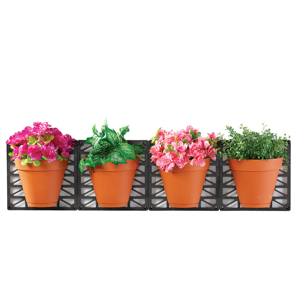 IdeaWorks Wall Mount Planter Set - Great for Annuals, Herbs, Succulents