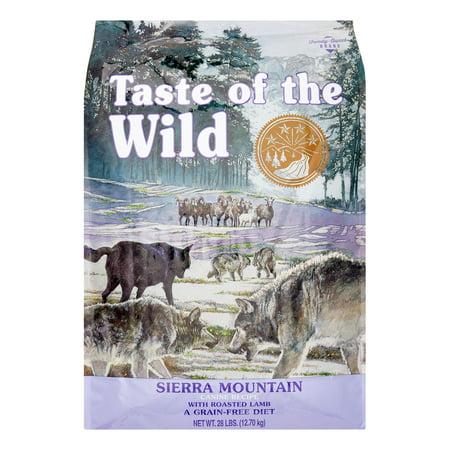 Taste of The Wild Sierra Mountain Grain-Free Dry Dog Food, 28