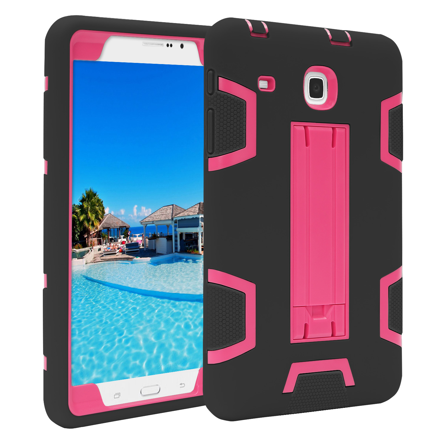 TKOOFN Samsung Shockproof Heavy Duty Kids Rugged Stand Case Cover for Samsung Galaxy Tab E 8""