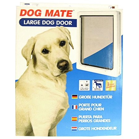 "Dog Mate Multi Insulation Dog Doors - White Large Door - (Dogs up to 25"" Shoulder Height)"
