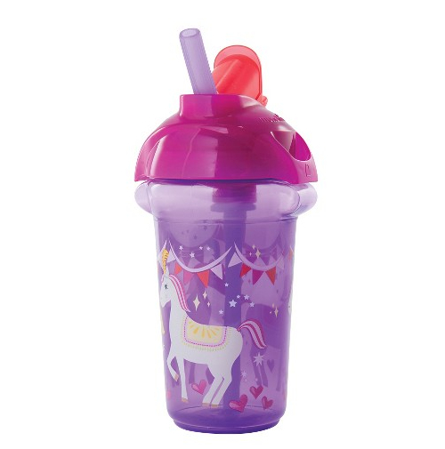 Munchkin Click Lock 9oz Decorated Flip Straw Cup