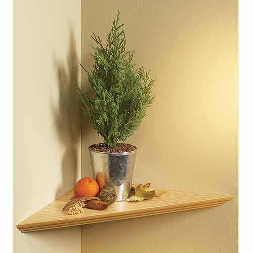 "Knape and Vogt EZC17/1OK 17"" x 17"" Oak Instant Corner Shelves Single Pack"
