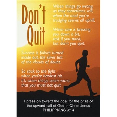 CB Gift 161461 2.5 x 3.5 in. Verse Card - Dont Quit Man Running On (Running Warehouse Gift Card Sale)