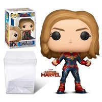 Warp Gadgets Bundle - Funko Pop - Marvel: Captain Marvel with Extra Thick .45 Mm Pop Protector (2 Items)