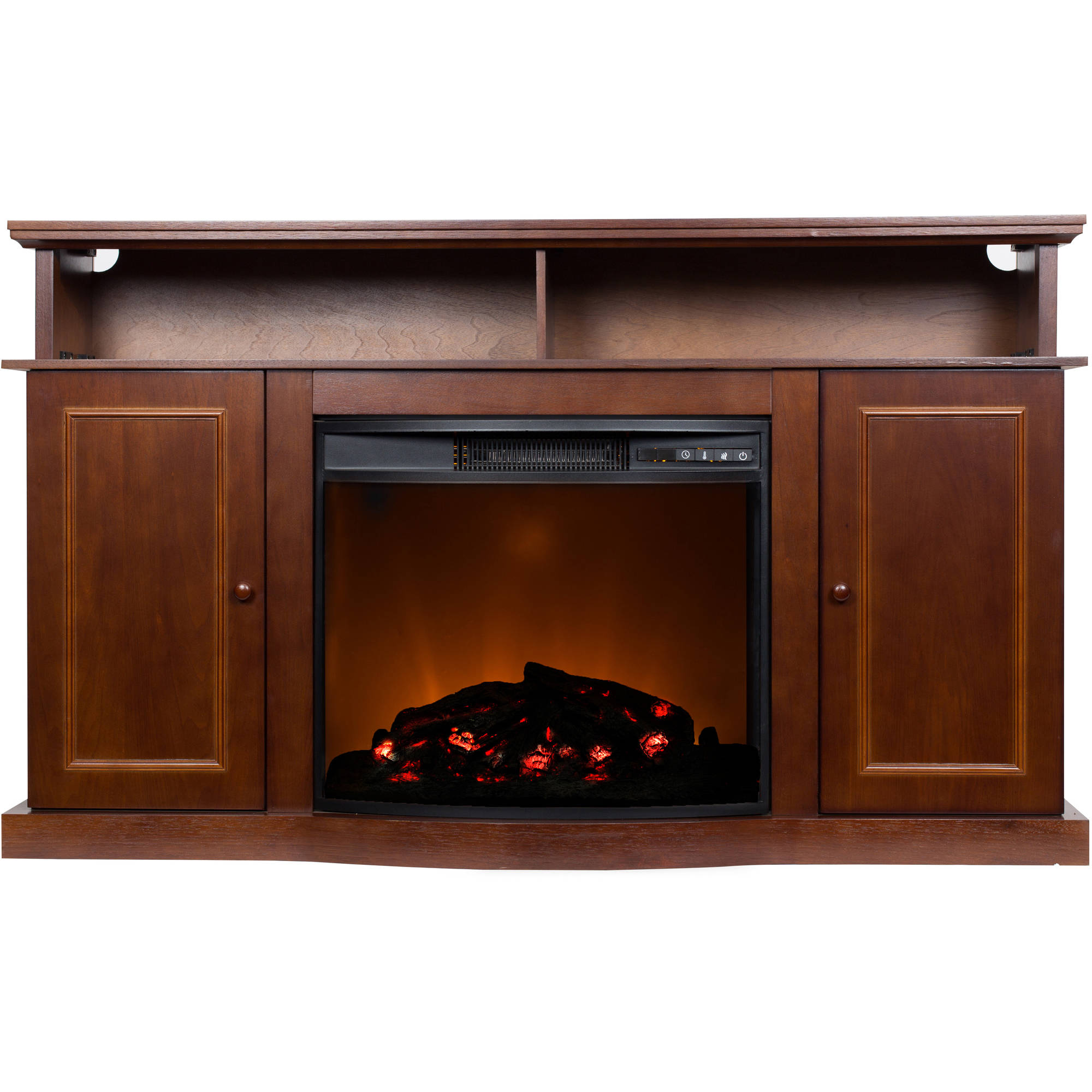 56 Inch Tv Stand With Fireplace Media Console Electric