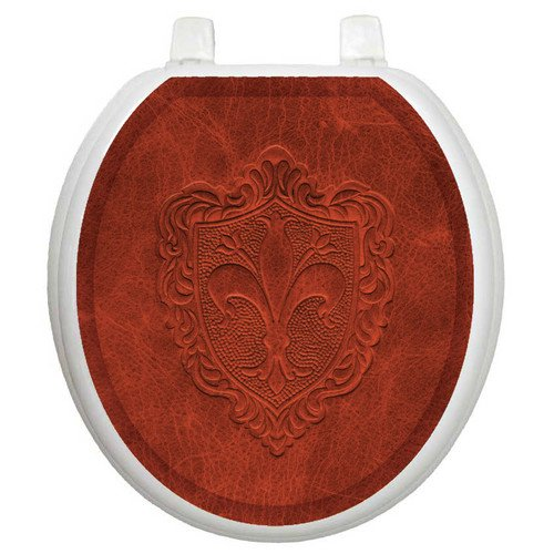 Surprising Toilet Tattoos Classic Embossed French Lily Toilet Seat Decal Pabps2019 Chair Design Images Pabps2019Com