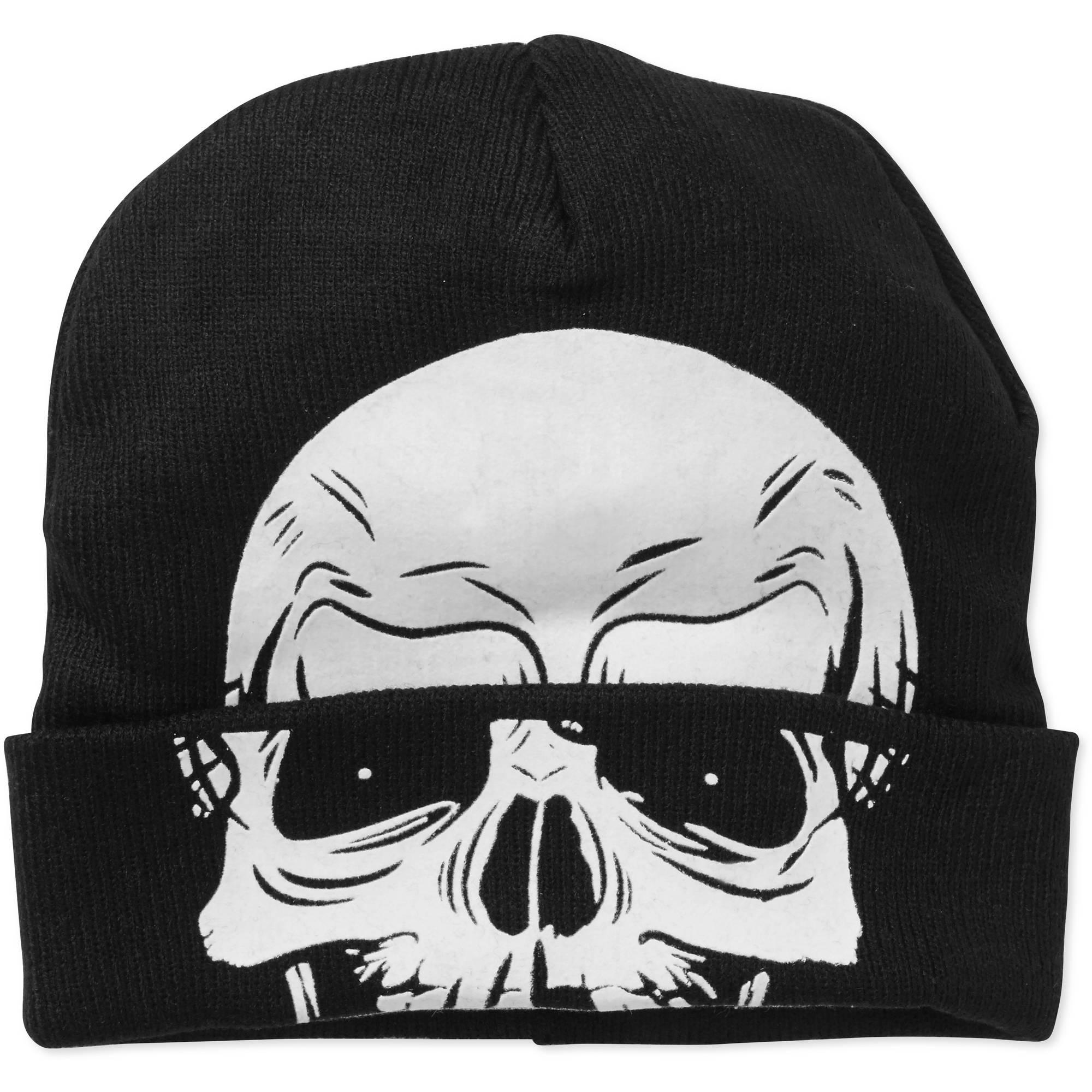 Men's Skull Rolldown Mask Hat