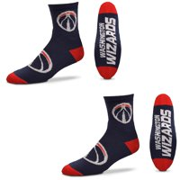 Washington Wizards For Bare Feet Quarter-Length Socks Two-Pack Set - L