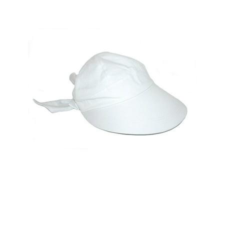 Dorfman Pacific - Women s Cotton White 4 Inch Brim Sun Facesaver Hat ... 11cbff3737e