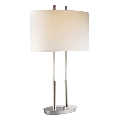 - George Kovacs by Minka P184-084 2-Light Table Lamp - Brushed Nickel - 17W in.