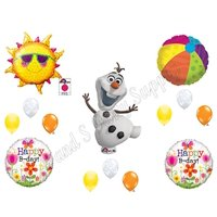 FUN IN THE SUN FROZEN Olaf Happy Birthday Balloons Decoration Supplies Summer Elsa Anna