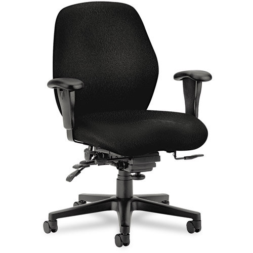 HON 7800 Series High-Performance Mid-Back Task Chair, Tectonic Black