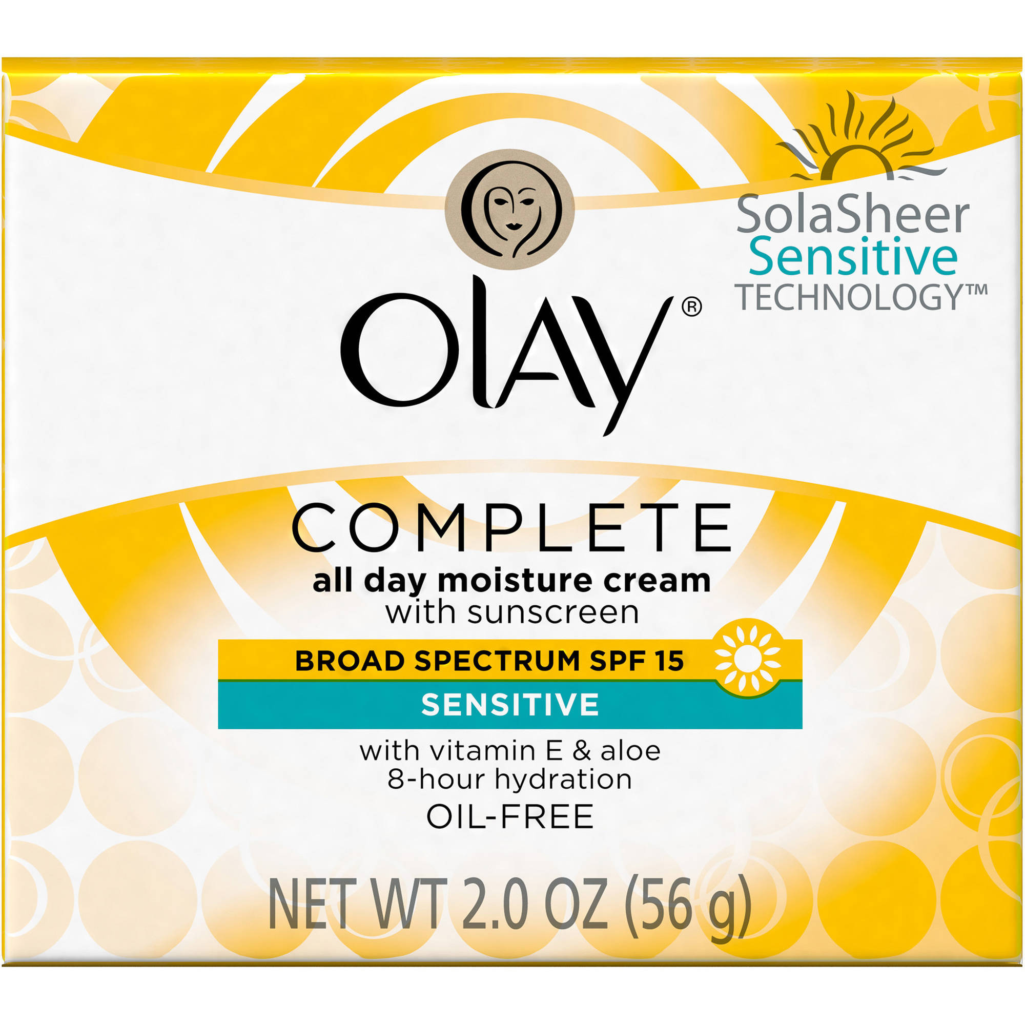 Olay Complete Facial Moisturizer Cream SPF 15 Sensitive Skin 2 oz