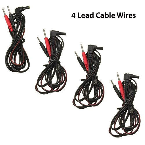 VeniCare 4pcs Tens Unit Lead Wires for Intensity 10 Tens 2500 3000 7000 EMS 7500 Twin Stim